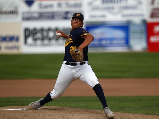Piedra Vista High School's Chase Silseth pitches for