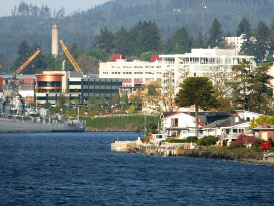 The USS Turner Joy, left, on a recent sunny day. The ship is one of Bremerton's top tourist attractions.