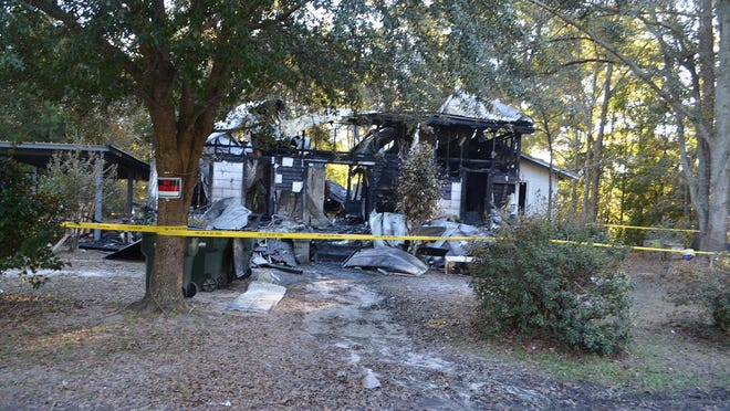 The remains of this home after the Nov. 16 incendiary fire at  217 Burkhalter St. in Pembroke.