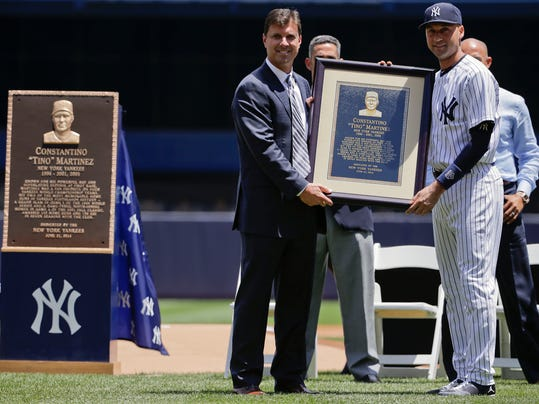 Yankees honor Tino Martinez with Monument Park plaque