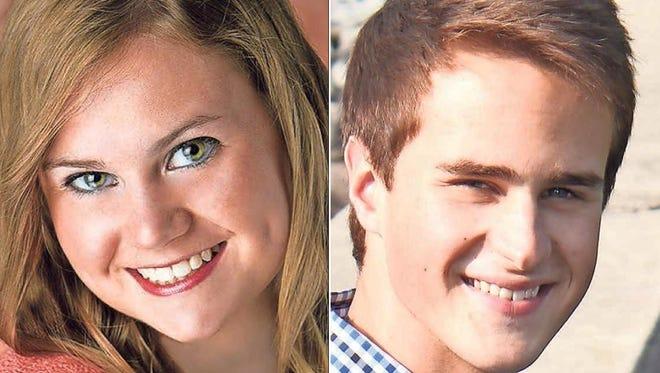 Olivia Havan and Calvin Jahnke of Kaukauna High School are this week's top scholars.