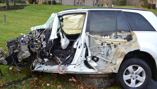 A sport utility vehicle and tractor-trailer collided on Beahan Road in Gates on Nov. 16, 2017.