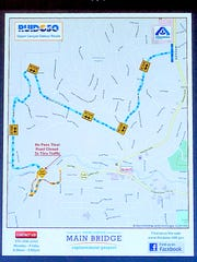The detour map for Upper Canyon access was issued by the village of Ruidoso.