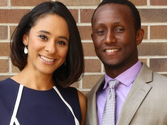 Jennifer Gabou (left), and her husband, Désiré Gabou (right) own OPEN GYM, a new fitness concierge service.