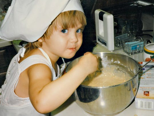 Even at 4 years old, Chef Lauren is at home in the