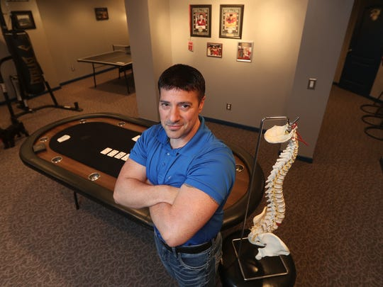 Russ Campanella, who is a big-time poker player, has operated his own chiropractic and wellness business locally for 20 years.