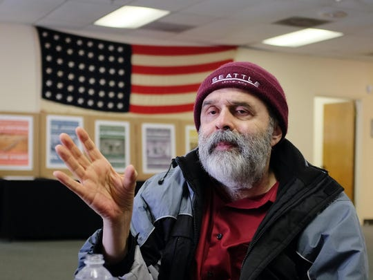 Attorney and voting rights advocate Joaquin Avila, photographed in Salinas on Tuesday. He is in town to help mark the 50th anniversary of the Voting Rights Act.