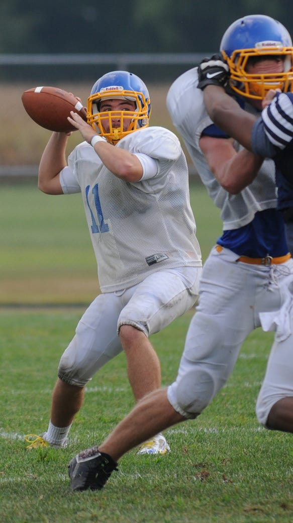 Sussex Central senior Chase Wells took the first snaps