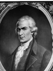 Alexander Hamilton - Photograph of a mural by Constantino Brumidi in the United States Capitol, Washington, D.C.