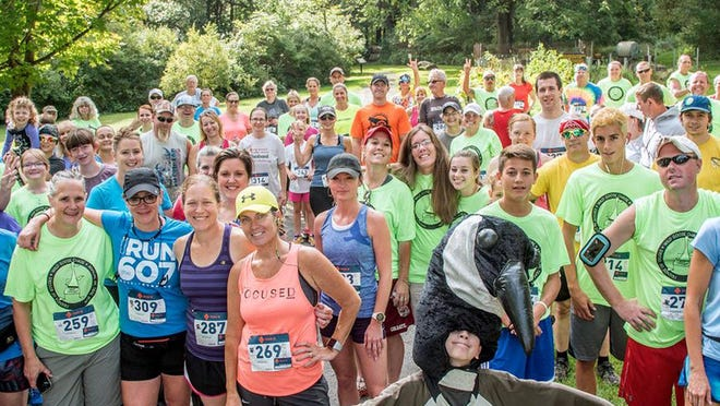 Wild Goose Chase 5K participants prepare for their run to benefit Rogers Environmental Education Center last year in Sherburne. The event this year will be held virtually Sept. 5-12.