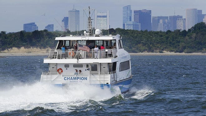 The MBTA ferry that connects Hingham, Hull and Boston.