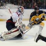 Washington Capitals goalie Braden Holtby (70) and Buffalo