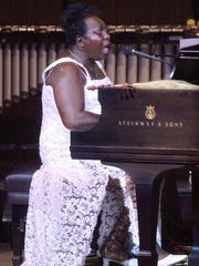 Nina Simone performs at the JVC Jazz Festival in New