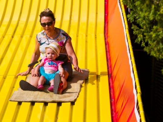 Wisconsin State Fair giant slide