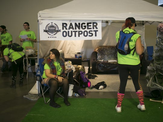Crew members of the Relentless Beats' Rangers prepare