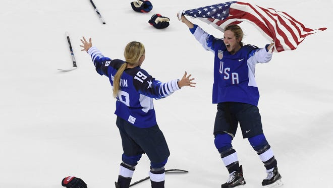 The U.S. women's hockey team won gold after beating the Canadians in a shootout.