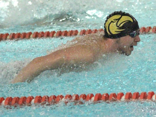 Colonel Crawford's Nic Motter competes in the 200 IM