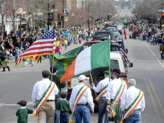 The Irish tricolor flag has special meaning in the legacy of Thomas F. Meagher. It's shown as part of the St. Patrick's Day Parade in Great Falls.