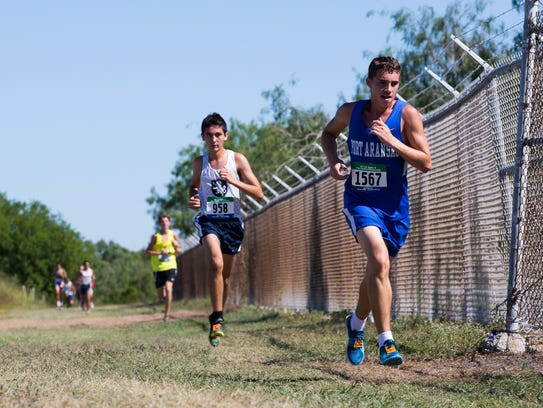 The boys 2A race during the Region IV Cross country
