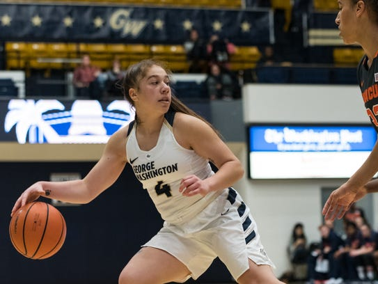 Seton Catholic Central graduate Lexi Levy is averaging 4.7 points in her first season at George Washington.