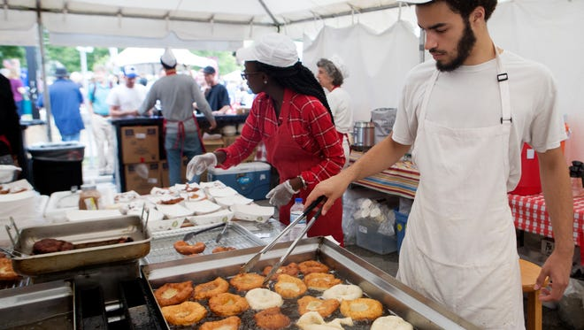Beignets are a tradition at Milwaukee's annual Bastille Days festival, in and around Cathedral Square Park downtown. The festival is July 13 to 16 this year.