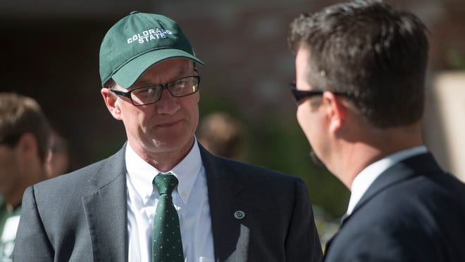 CSU athletic director Joe Parker, left, told the Coloradoan he doesn't feel CSU needs to campaign for a spot in the Big 12. For now, the Rams need to focus on being the best version of themselves.