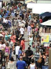 Crowds flock to the Nashville Flea Market at The Fairgrounds Nashville.