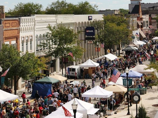 Fondue Fest extends from Merrill Avenue to Western Avenue and welcomes 20,000 visitors each year.