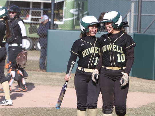 Howell's Sydney Pezzoni (left) and Taylor Frank share
