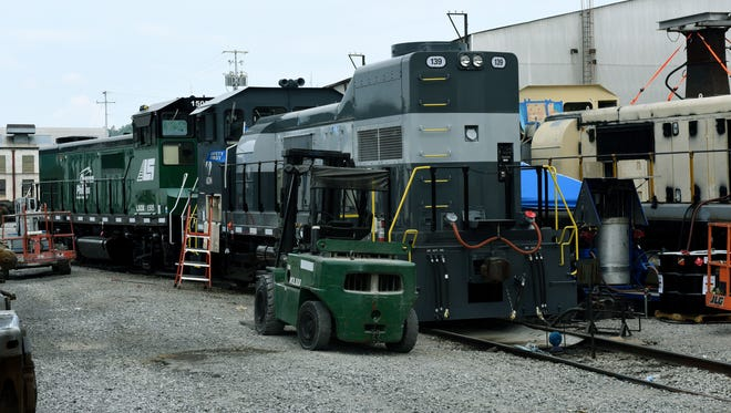 The Knoxville Locomotive Works shop facilities in Knoxville Thursday, Jul. 20, 2017 as they build and test engines.