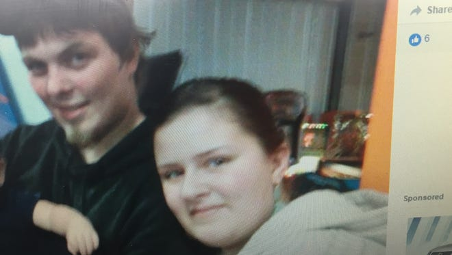 Justin Stone, left, and Corrin Laraway in a February picture posted on Laraway's Facebook page.