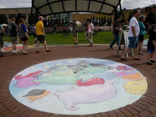 Chalkfest art