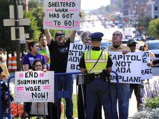 ADA protest