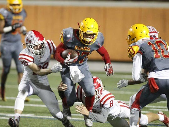 Martinez set a school-record with 308 yards rushing in the opening round of the CIF Central Coast Section playoff game against Saratoga on Nov. 11 at Rabobank Stadium. Martinez also tied a school-record with a six-touchdown performance in the game.