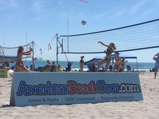 Beach volleyball hits it big at Beach n Boards in Cocoa Beach.
