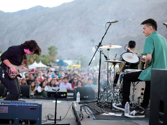 Alchemy of Indio performs at Tachevah: A Palm Springs Block Party.