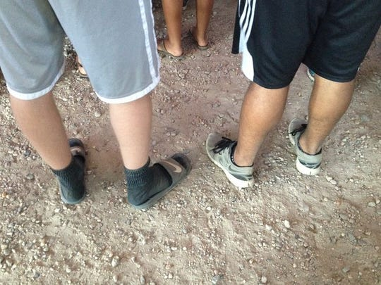 We spotted way too many black socks with sandals at Firefly this year.
