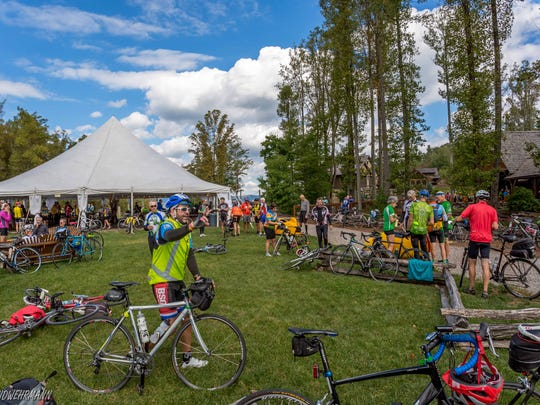 Cyclists spend a lot of money in the towns they stop in, organizers say.
