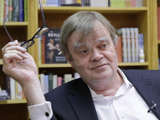 """Garrison Keillor """"speaks in a low conversational tone,"""" according to his performance contract."""