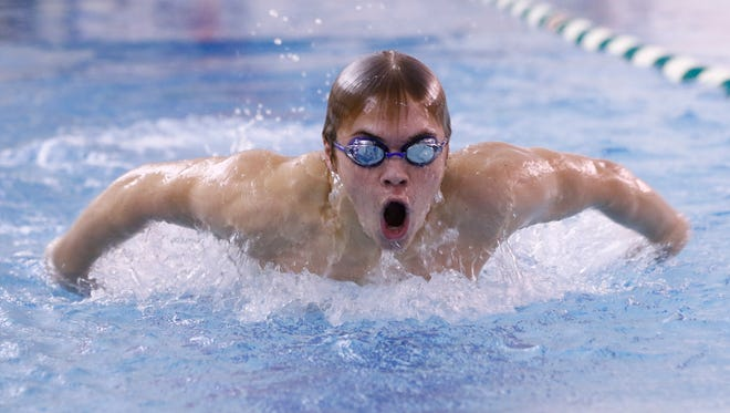 Payton Rudeen is one of 10 members of the Woodson Y Northern swim team who recently qualified for the YMCA national meet.
