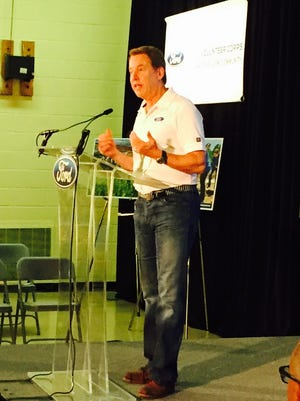 Bill Ford marks 10th anniversary of the Ford Volunteer Corps at an event in Inkster Sept. 2, 2015