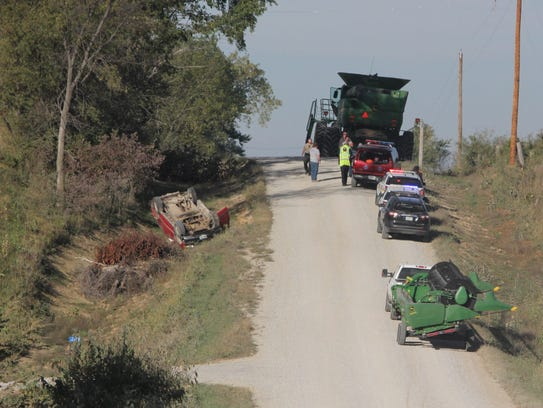 A truck-combine accident was reported on 270th Street