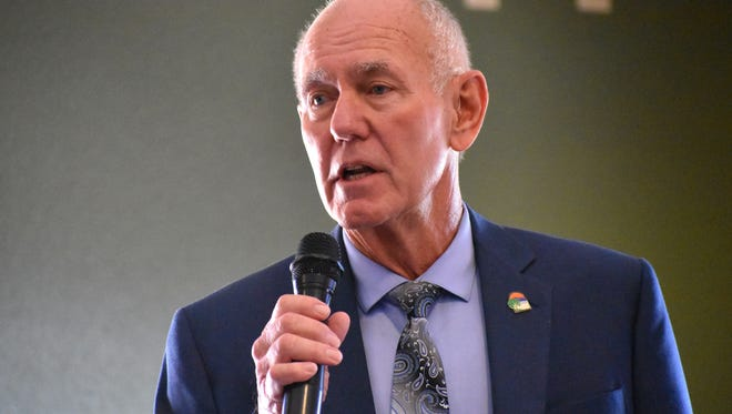 Mayor Richard Boss talked city projects during the Republican Women of Otero County's monthly meeting Wednesday.