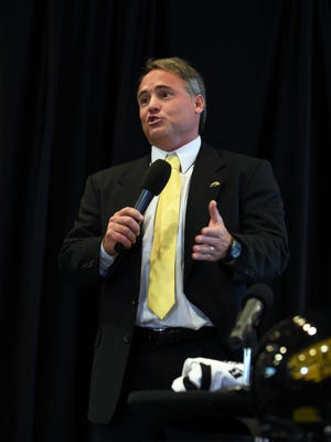 Southern Miss football coach Jay Hopson formally announced his coaching staff Friday.