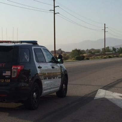 Police closed down a part of Jackson Road in Coachella