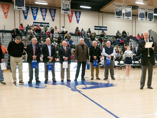 Roosevelt's 1965 state champion boys' basketball team was honored Jan. 30.