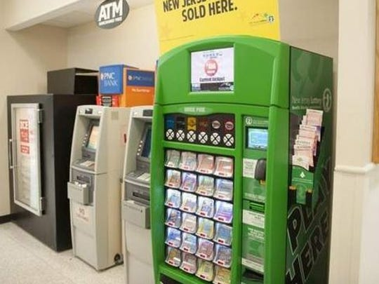 Lottery tickets are readily available in New Jersey,