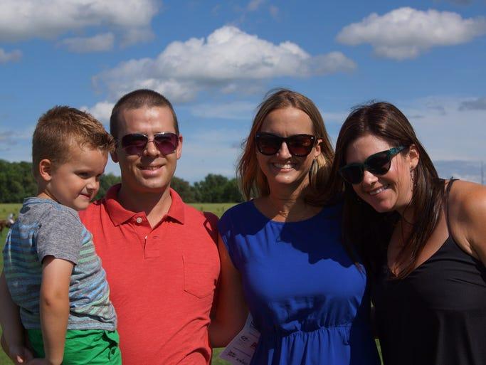 Ben, Shelley and Brady Gordon with Jennifer Crumpley