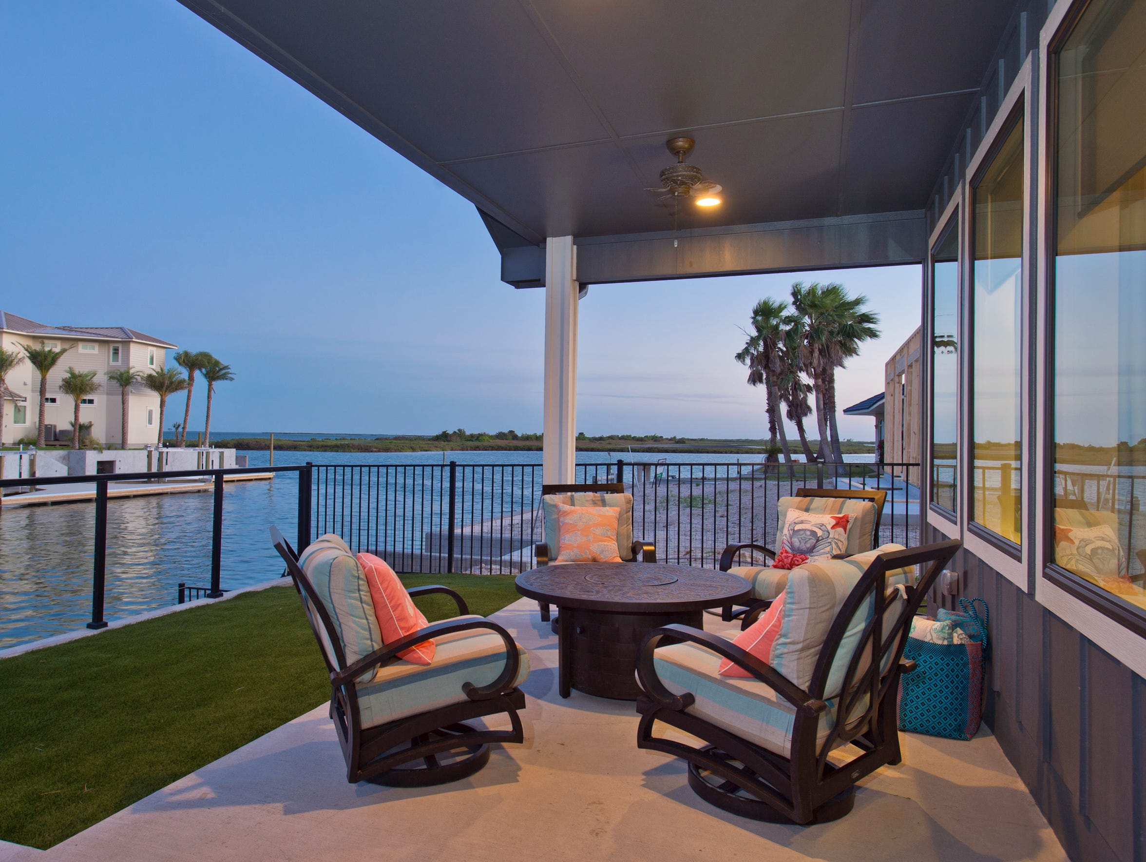 Outdoor living at it's best in this sitting area overlooking