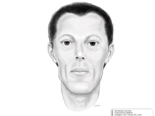 A sketch of a man whose body was found in West Manchester